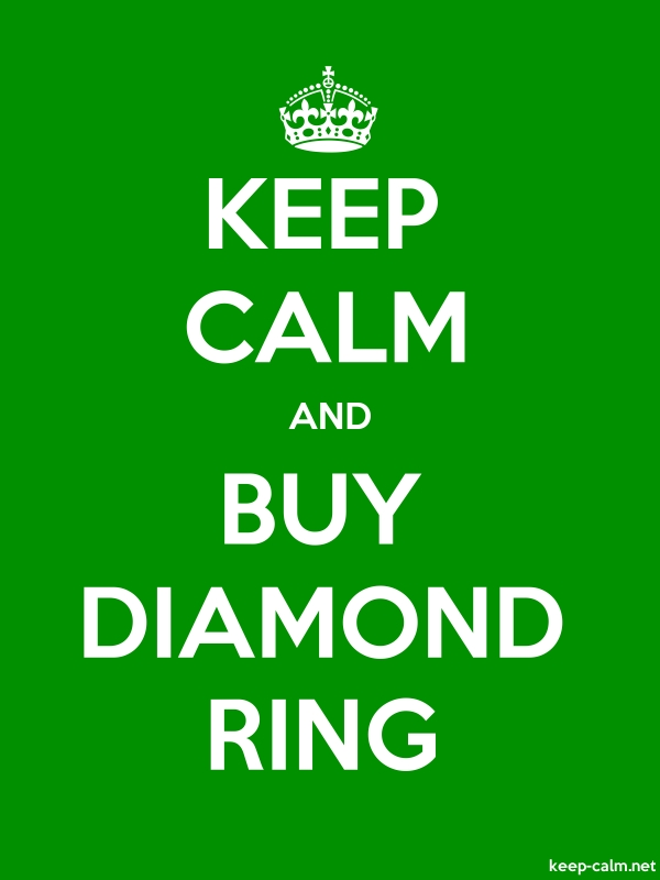KEEP CALM AND BUY DIAMOND RING - white/green - Default (600x800)