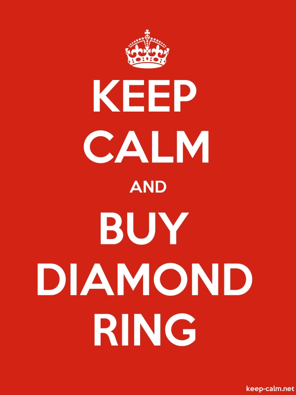KEEP CALM AND BUY DIAMOND RING - white/red - Default (600x800)