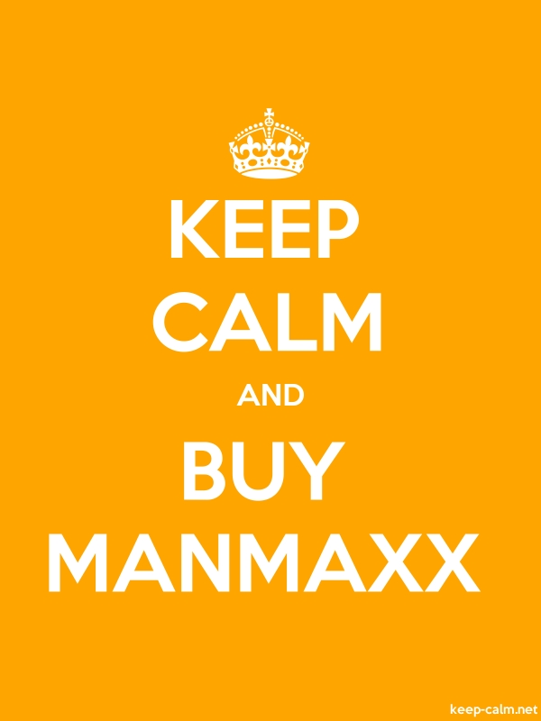 KEEP CALM AND BUY MANMAXX - white/orange - Default (600x800)