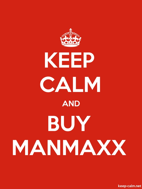 KEEP CALM AND BUY MANMAXX - white/red - Default (600x800)
