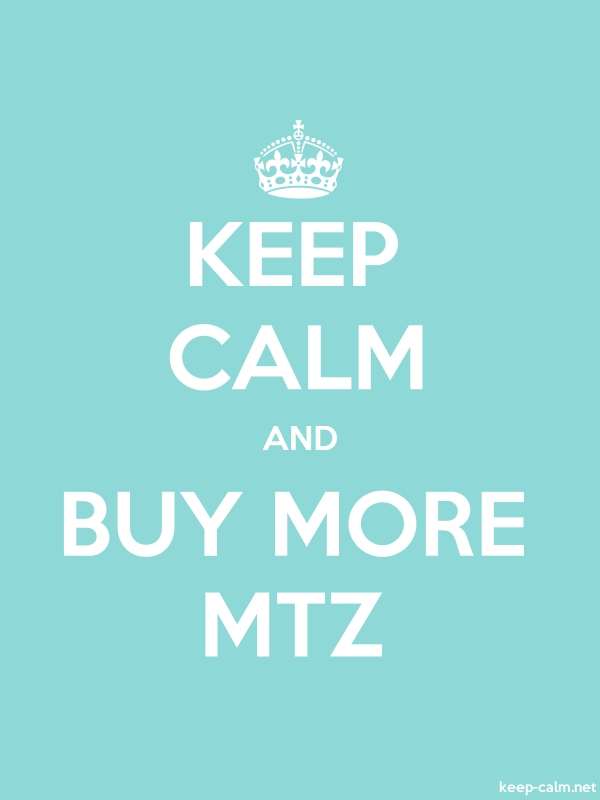 KEEP CALM AND BUY MORE MTZ - white/lightblue - Default (600x800)