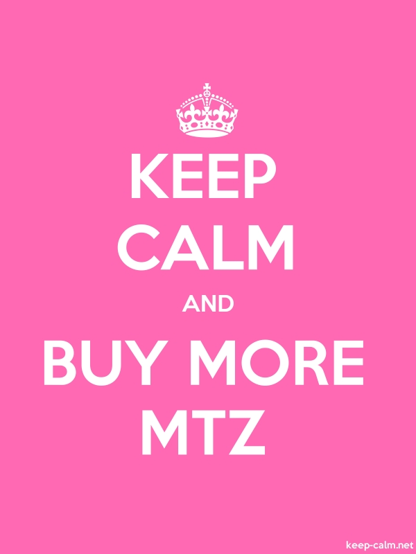 KEEP CALM AND BUY MORE MTZ - white/pink - Default (600x800)