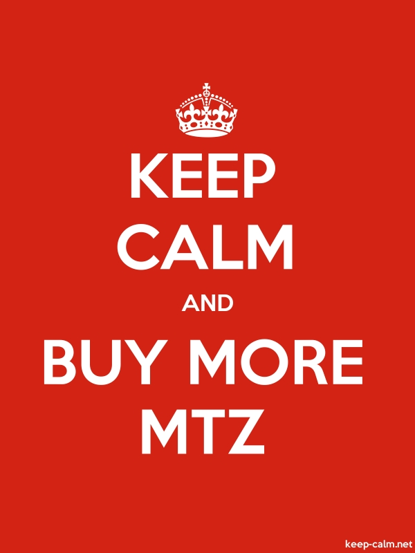 KEEP CALM AND BUY MORE MTZ - white/red - Default (600x800)