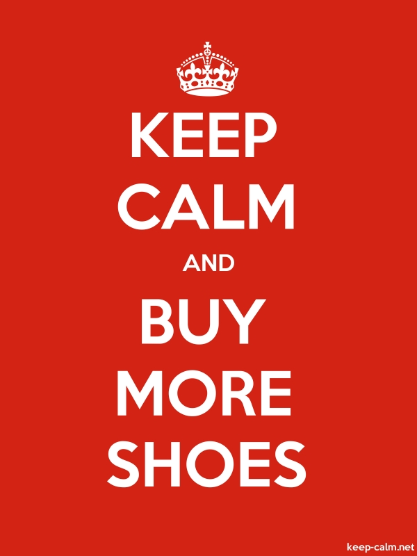 KEEP CALM AND BUY MORE SHOES - white/red - Default (600x800)