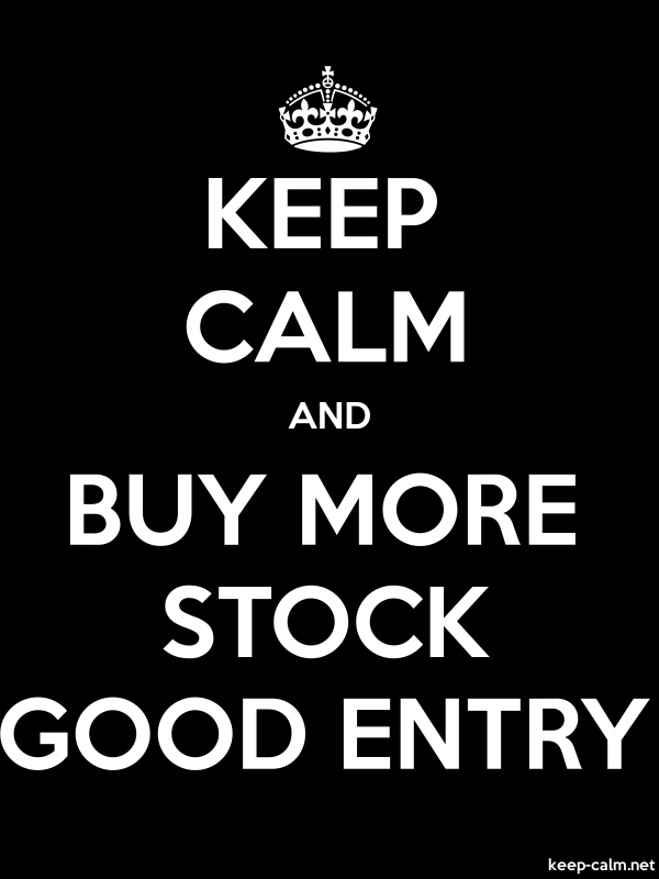 KEEP CALM AND BUY MORE STOCK GOOD ENTRY - white/black - Default (600x800)