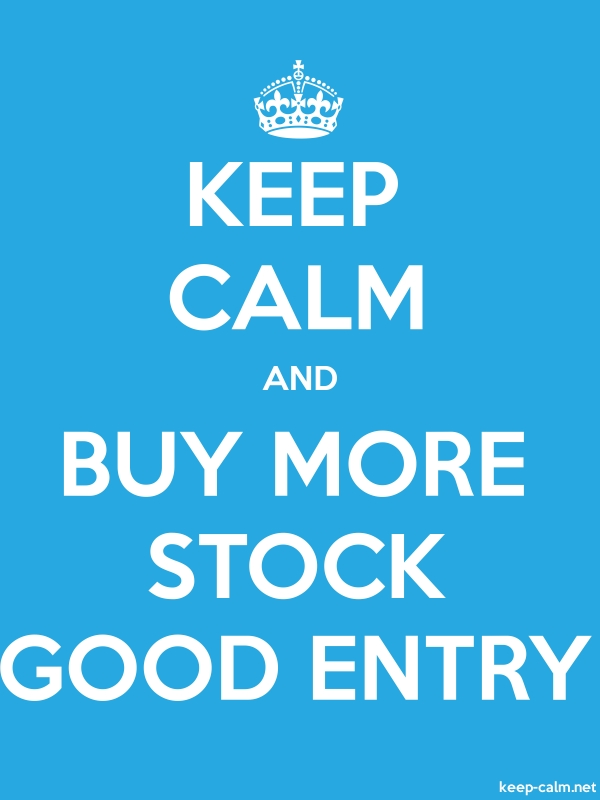 KEEP CALM AND BUY MORE STOCK GOOD ENTRY - white/blue - Default (600x800)