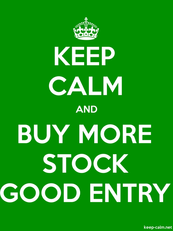 KEEP CALM AND BUY MORE STOCK GOOD ENTRY - white/green - Default (600x800)