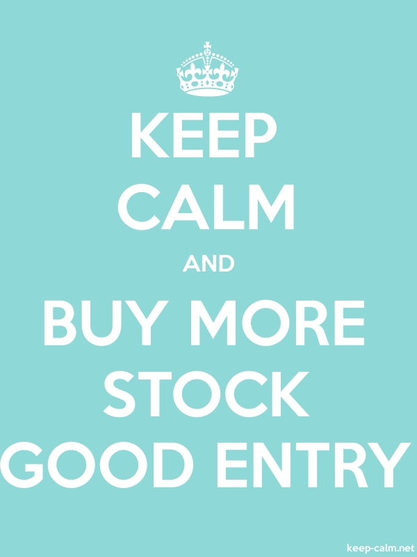 KEEP CALM AND BUY MORE STOCK GOOD ENTRY - white/lightblue - Default (600x800)