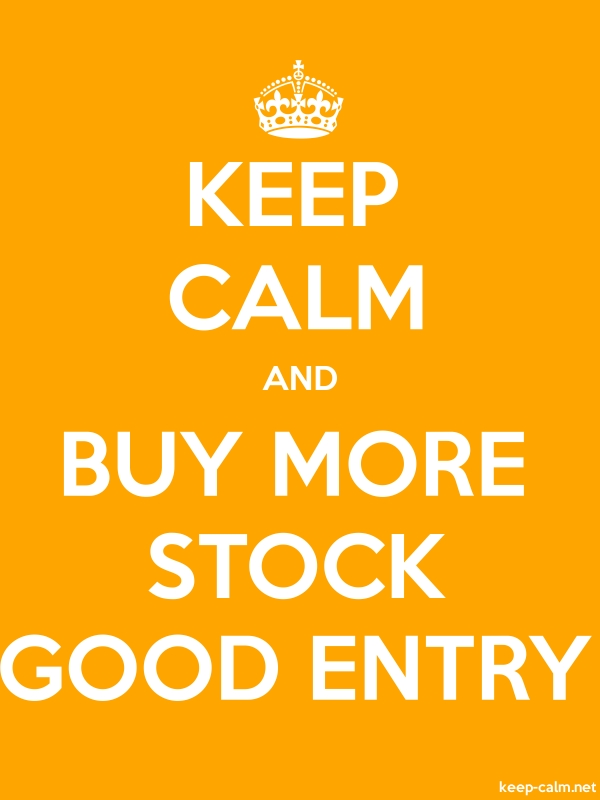 KEEP CALM AND BUY MORE STOCK GOOD ENTRY - white/orange - Default (600x800)