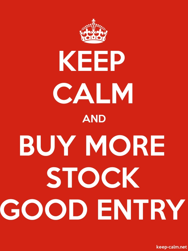 KEEP CALM AND BUY MORE STOCK GOOD ENTRY - white/red - Default (600x800)