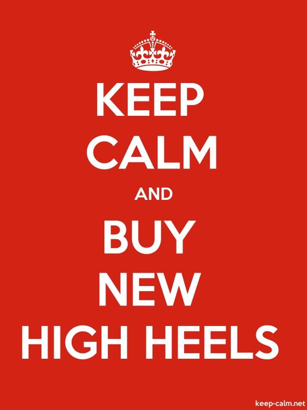KEEP CALM AND BUY NEW HIGH HEELS - white/red - Default (600x800)