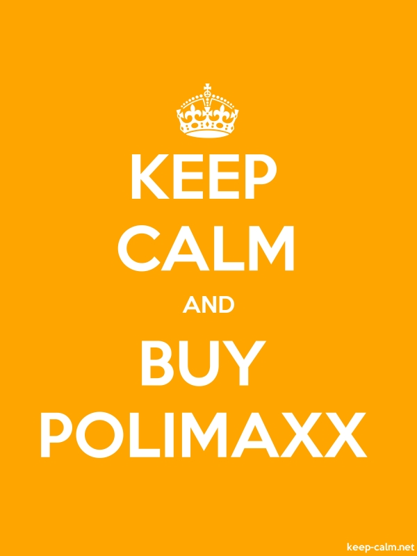 KEEP CALM AND BUY POLIMAXX - white/orange - Default (600x800)