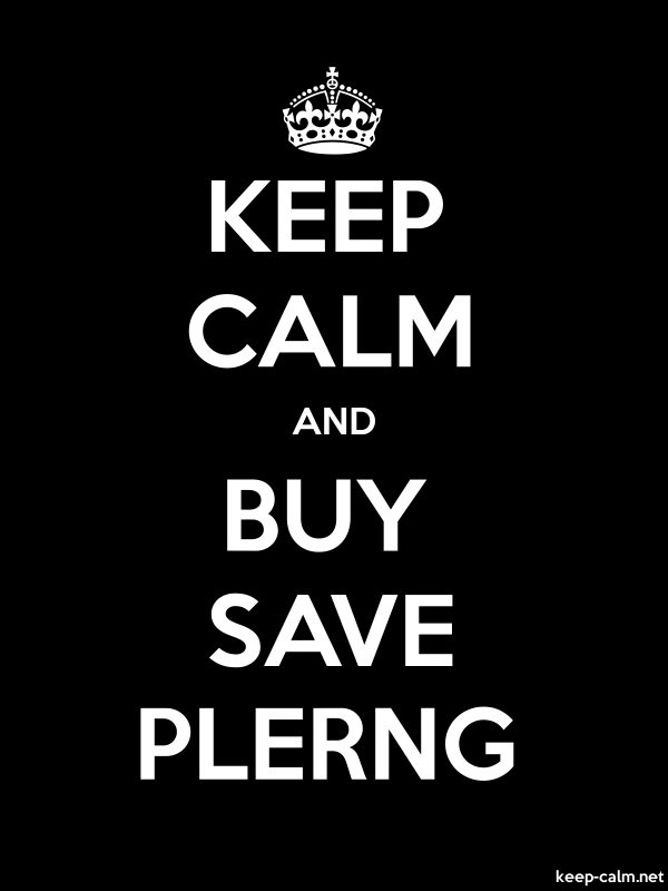 KEEP CALM AND BUY SAVE PLERNG - white/black - Default (600x800)