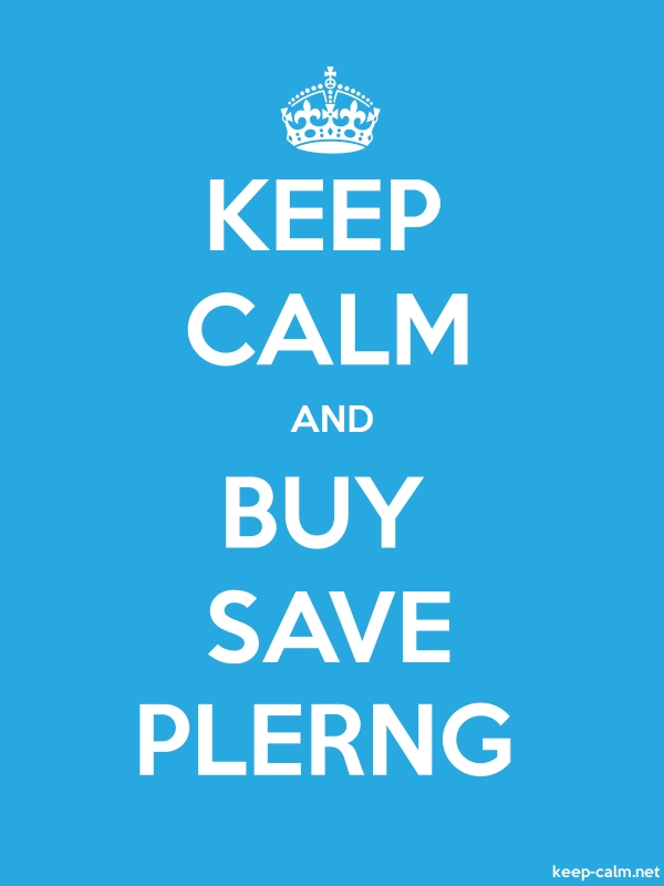 KEEP CALM AND BUY SAVE PLERNG - white/blue - Default (600x800)