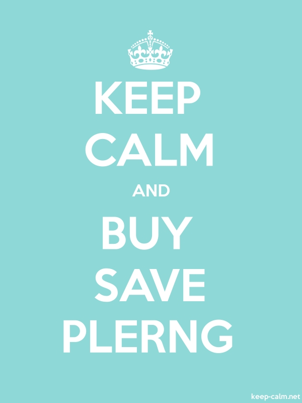 KEEP CALM AND BUY SAVE PLERNG - white/lightblue - Default (600x800)