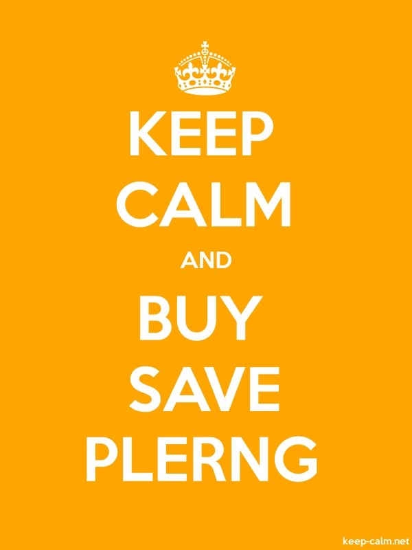 KEEP CALM AND BUY SAVE PLERNG - white/orange - Default (600x800)