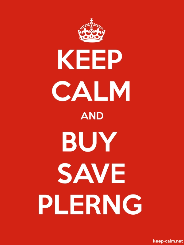 KEEP CALM AND BUY SAVE PLERNG - white/red - Default (600x800)