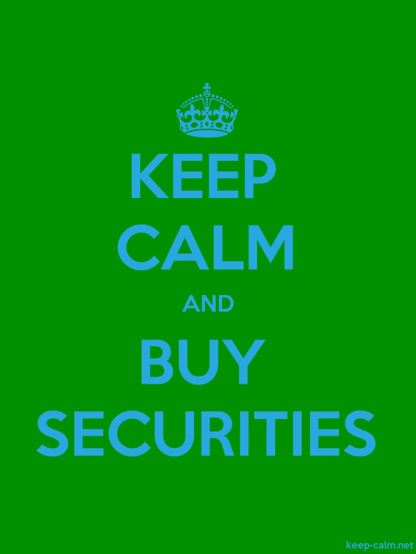 KEEP CALM AND BUY SECURITIES - blue/green - Default (600x800)