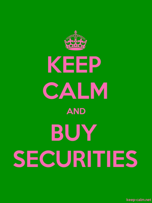 KEEP CALM AND BUY SECURITIES - pink/green - Default (600x800)