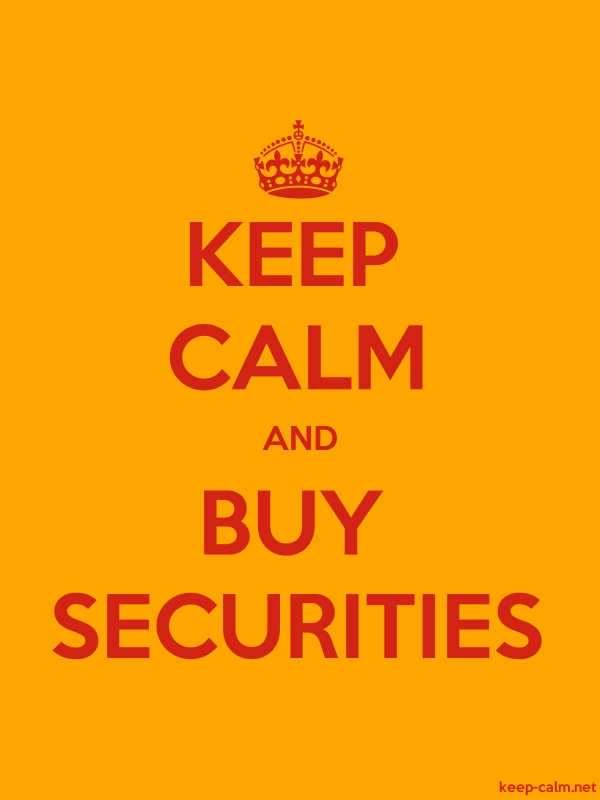 KEEP CALM AND BUY SECURITIES - red/orange - Default (600x800)