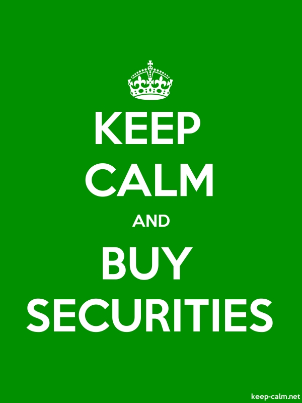 KEEP CALM AND BUY SECURITIES - white/green - Default (600x800)