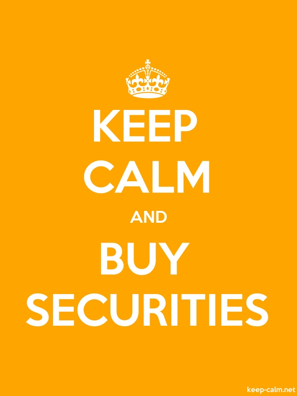 KEEP CALM AND BUY SECURITIES - white/orange - Default (600x800)
