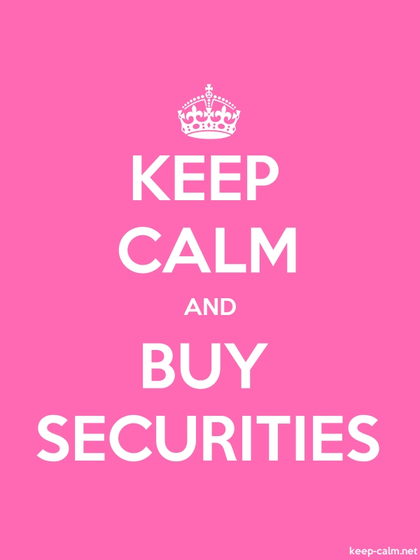 KEEP CALM AND BUY SECURITIES - white/pink - Default (600x800)