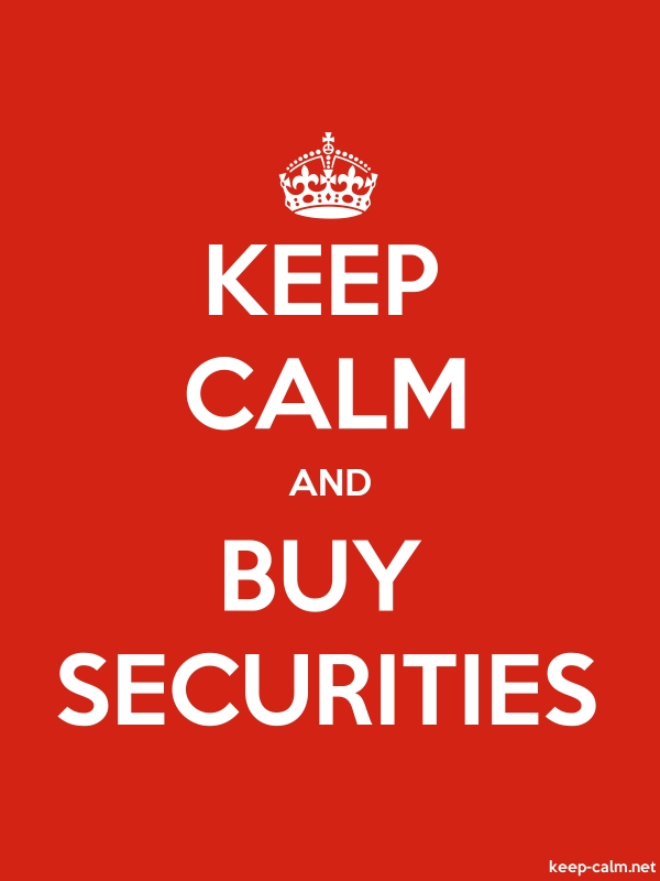 KEEP CALM AND BUY SECURITIES - white/red - Default (600x800)