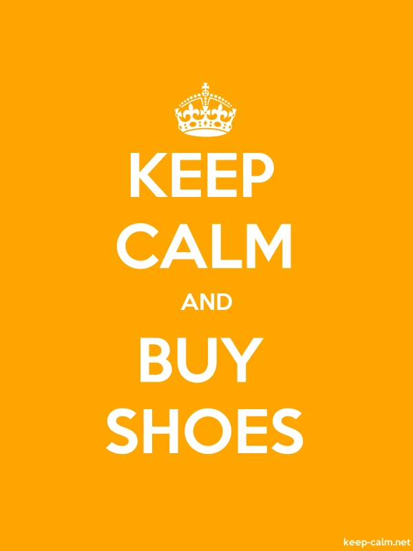 KEEP CALM AND BUY SHOES - white/orange - Default (600x800)