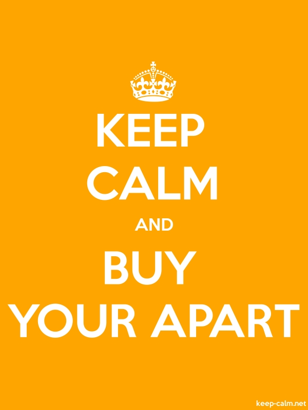 KEEP CALM AND BUY YOUR APART - white/orange - Default (600x800)