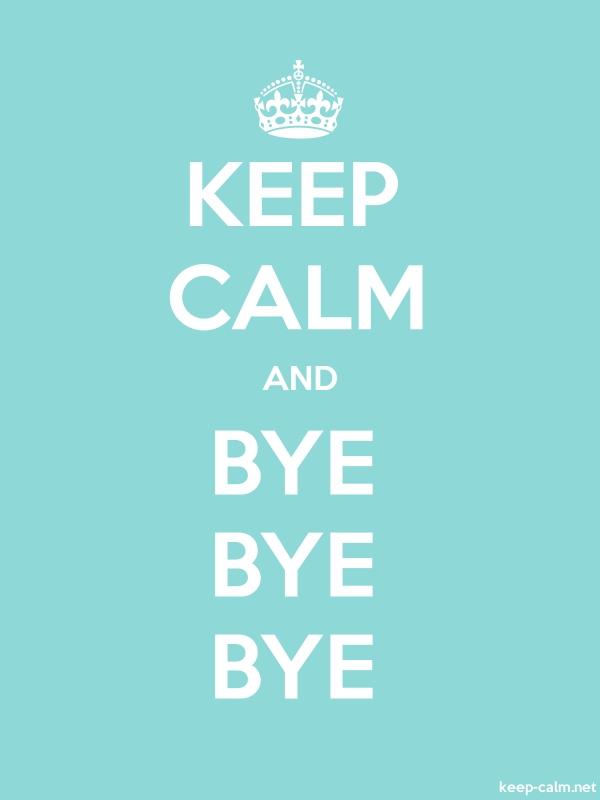 KEEP CALM AND BYE BYE BYE - white/lightblue - Default (600x800)