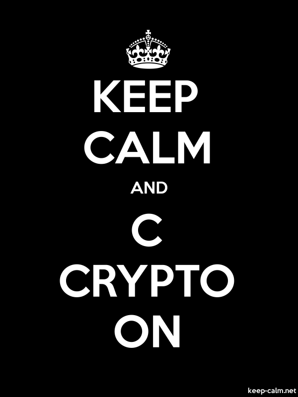 KEEP CALM AND C CRYPTO ON - white/black - Default (600x800)