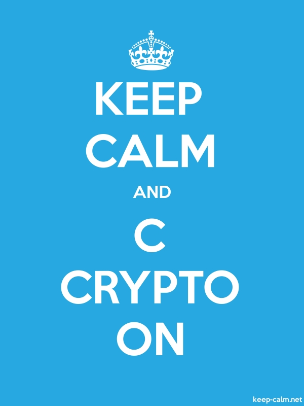 KEEP CALM AND C CRYPTO ON - white/blue - Default (600x800)