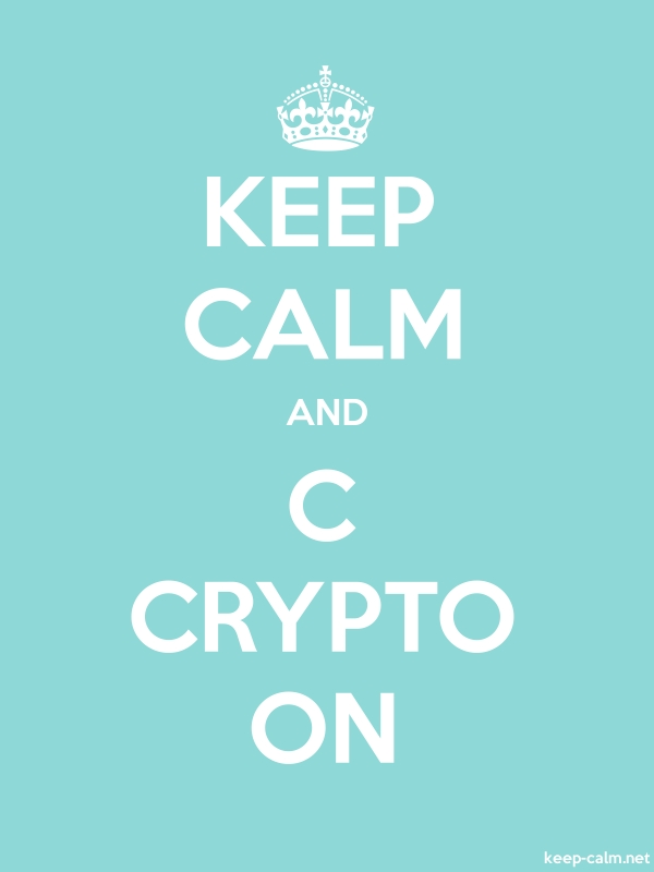 KEEP CALM AND C CRYPTO ON - white/lightblue - Default (600x800)