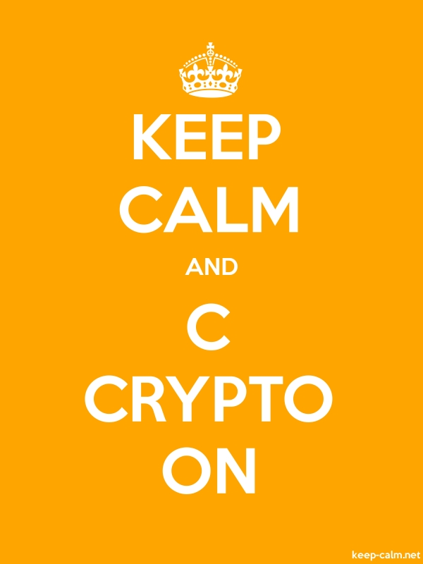 KEEP CALM AND C CRYPTO ON - white/orange - Default (600x800)