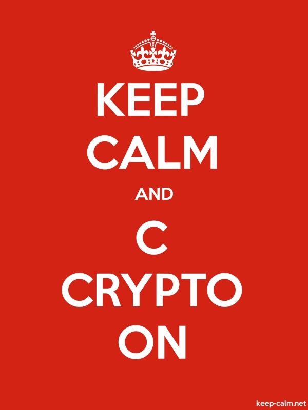 KEEP CALM AND C CRYPTO ON - white/red - Default (600x800)