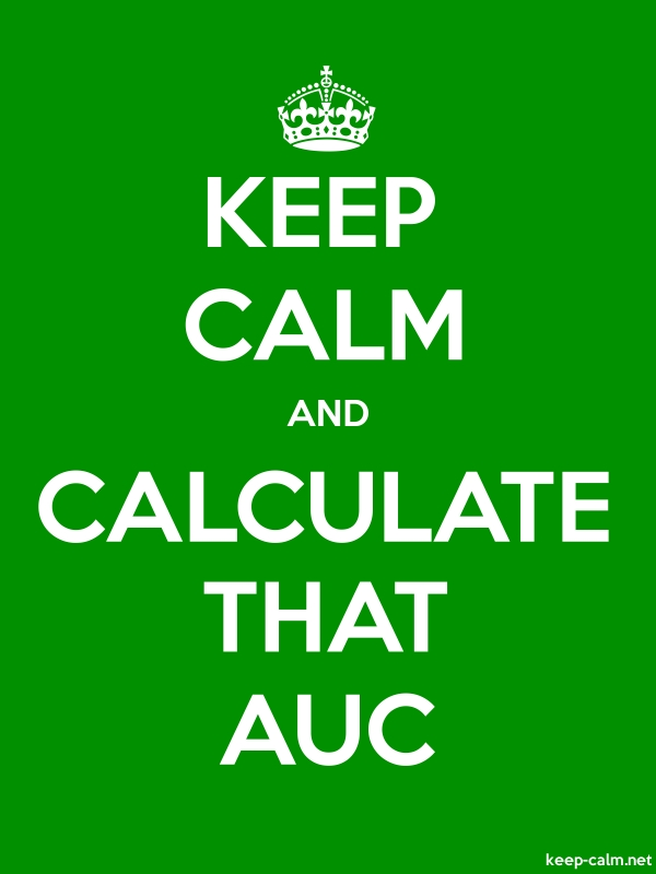 KEEP CALM AND CALCULATE THAT AUC - white/green - Default (600x800)