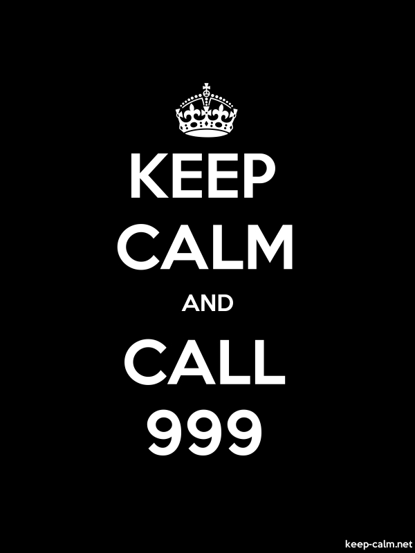 KEEP CALM AND CALL 999 - white/black - Default (600x800)