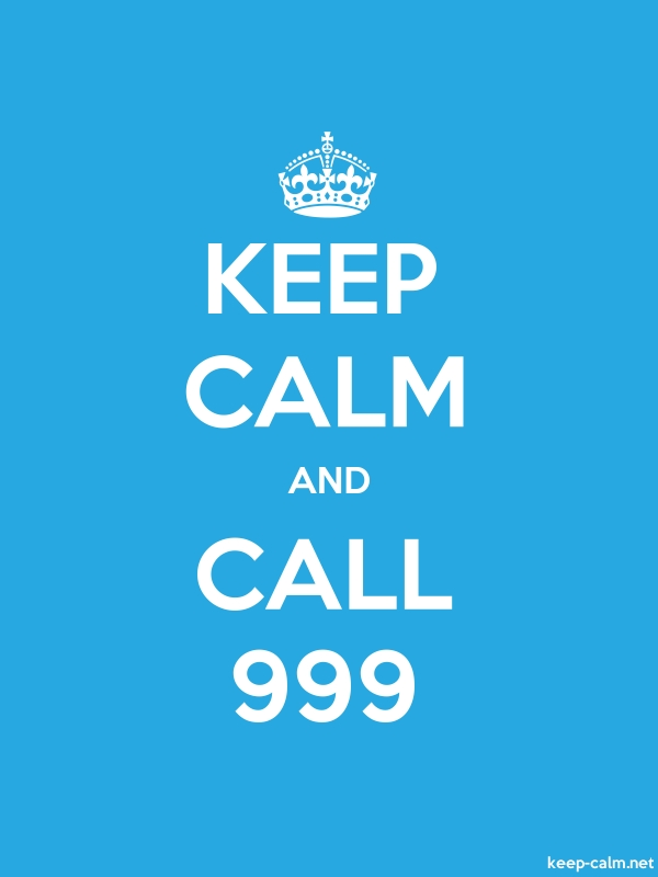 KEEP CALM AND CALL 999 - white/blue - Default (600x800)