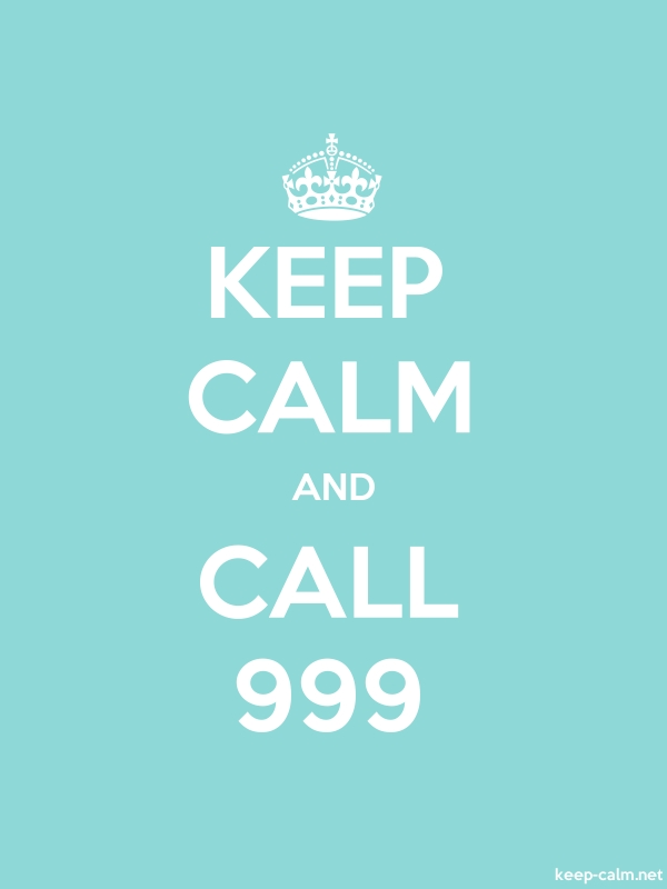 KEEP CALM AND CALL 999 - white/lightblue - Default (600x800)