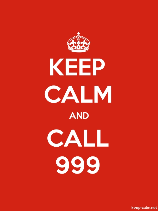 KEEP CALM AND CALL 999 - white/red - Default (600x800)