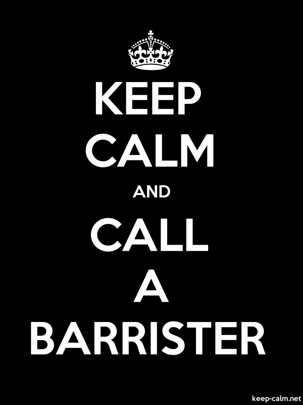 KEEP CALM AND CALL A BARRISTER - white/black - Default (600x800)
