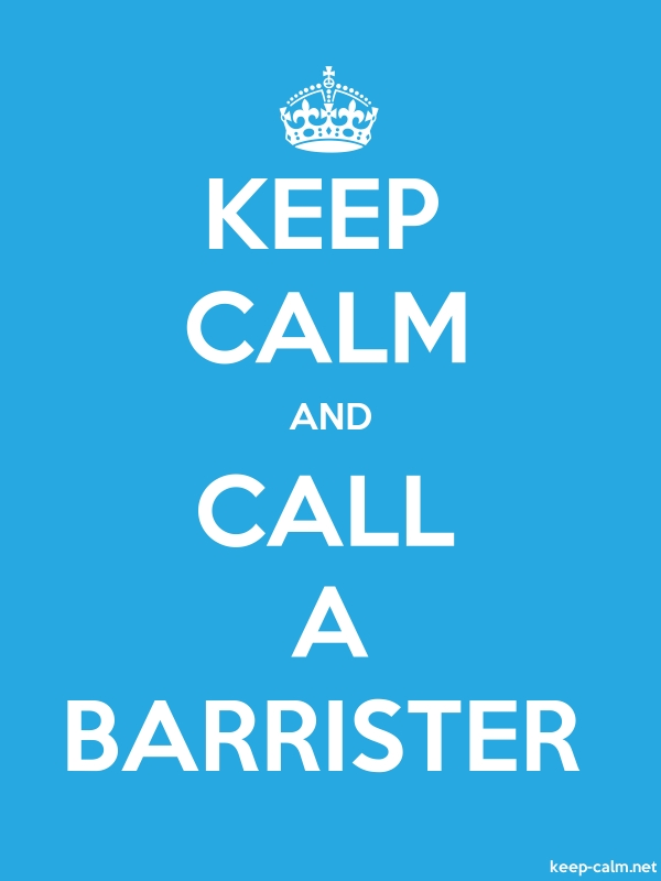 KEEP CALM AND CALL A BARRISTER - white/blue - Default (600x800)