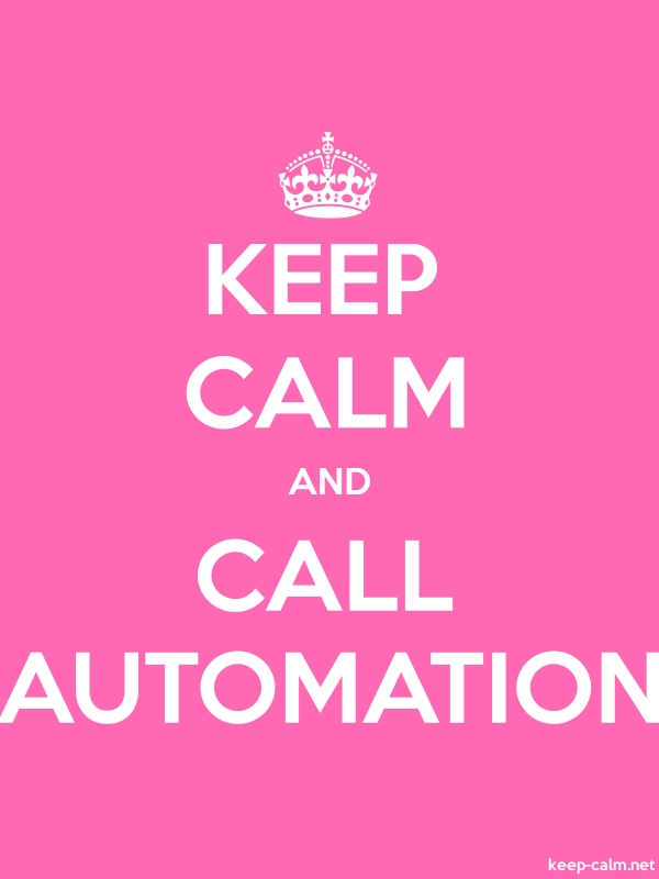 KEEP CALM AND CALL AUTOMATION - white/pink - Default (600x800)