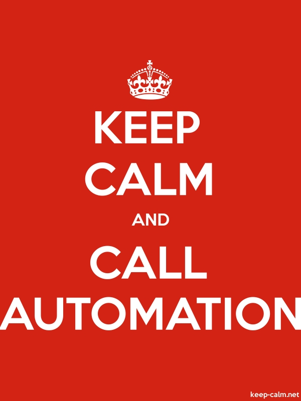 KEEP CALM AND CALL AUTOMATION - white/red - Default (600x800)