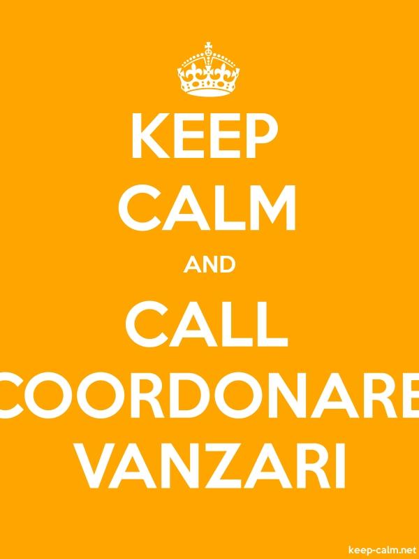 KEEP CALM AND CALL COORDONARE VANZARI - white/orange - Default (600x800)