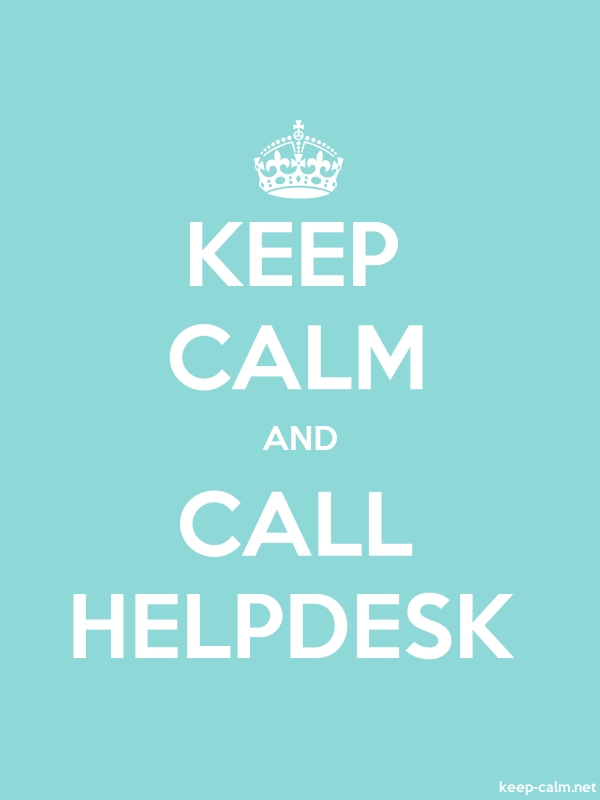 KEEP CALM AND CALL HELPDESK - white/lightblue - Default (600x800)
