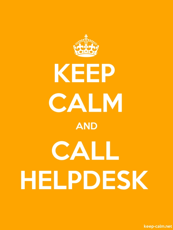 KEEP CALM AND CALL HELPDESK - white/orange - Default (600x800)