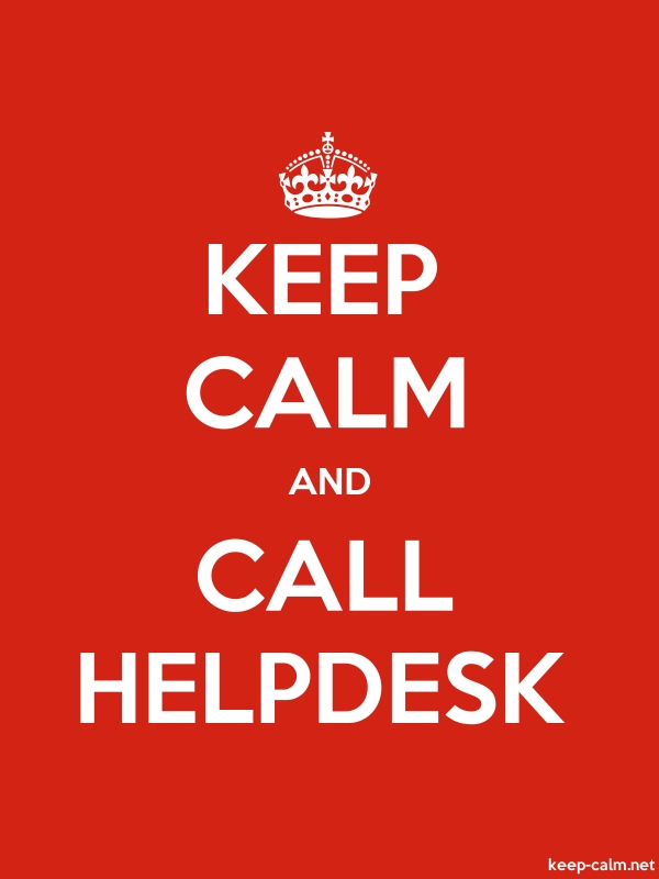 KEEP CALM AND CALL HELPDESK - white/red - Default (600x800)