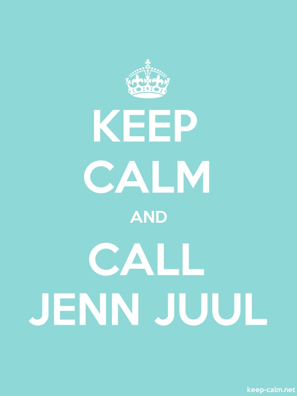 KEEP CALM AND CALL JENN JUUL - white/lightblue - Default (600x800)